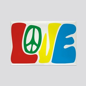 lovePeace Rectangle Magnet