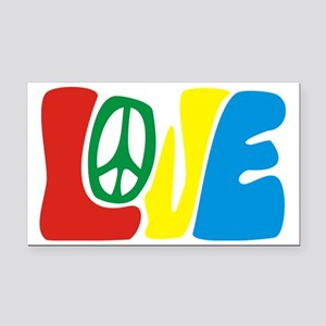 lovePeace Rectangle Car Magnet