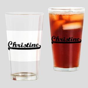 Christine Classic Retro Name Design Drinking Glass