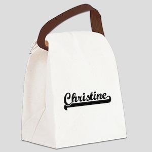 Christine Classic Retro Name Desi Canvas Lunch Bag