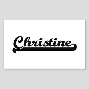 Christine Classic Retro Name Design Sticker