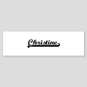 Christine Classic Retro Name Design Bumper Sticker