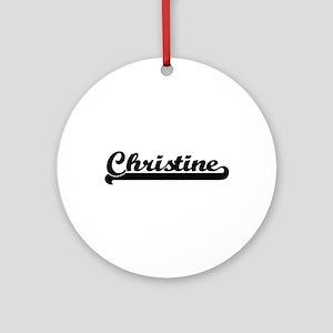 Christine Classic Retro Name Desi Ornament (Round)
