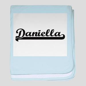Daniella Classic Retro Name Design baby blanket