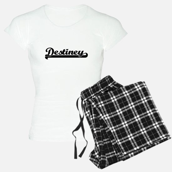 Destiney Classic Retro Name Pajamas