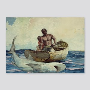 Shark Fisherman 5'x7'Area Rug