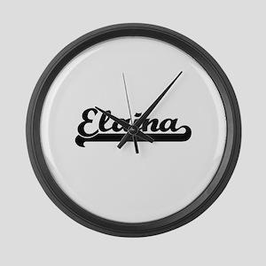 Elaina Classic Retro Name Design Large Wall Clock
