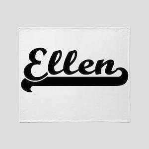 Ellen Classic Retro Name Design Throw Blanket