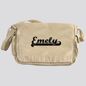 Emely Classic Retro Name Design Messenger Bag