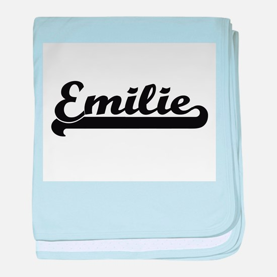 Emilie Classic Retro Name Design baby blanket