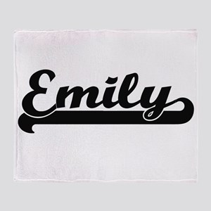 Emily Classic Retro Name Design Throw Blanket