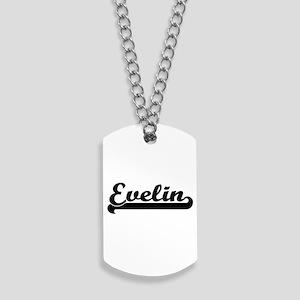 Evelin Classic Retro Name Design Dog Tags
