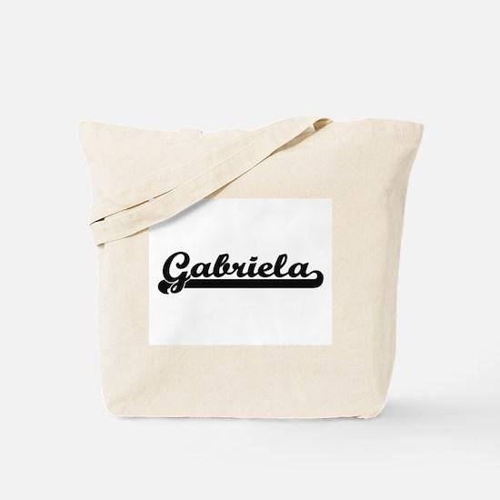 Gabriela Classic Retro Name Design Tote Bag
