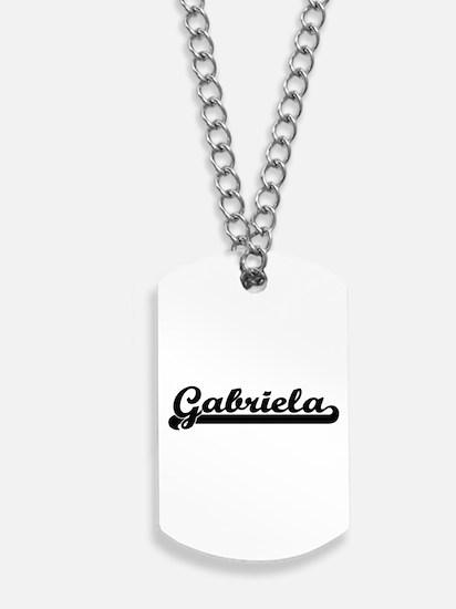 Gabriela Classic Retro Name Design Dog Tags