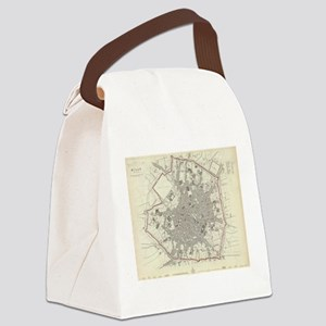 Vintage Map of Milan Italy (1832) Canvas Lunch Bag