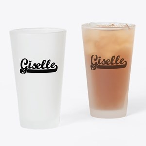 Giselle Classic Retro Name Design Drinking Glass