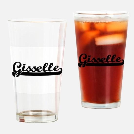 Gisselle Classic Retro Name Design Drinking Glass