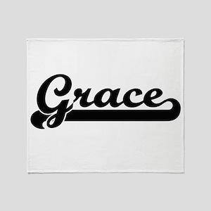 Grace Classic Retro Name Design Throw Blanket