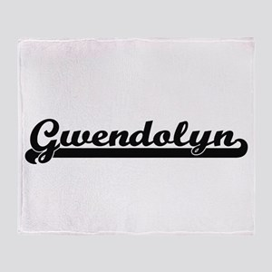 Gwendolyn Classic Retro Name Design Throw Blanket