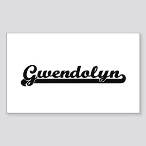 Gwendolyn Classic Retro Name Design Sticker