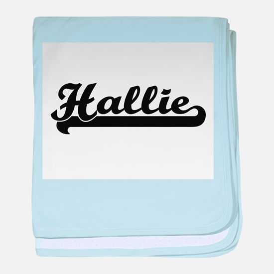 Hallie Classic Retro Name Design baby blanket
