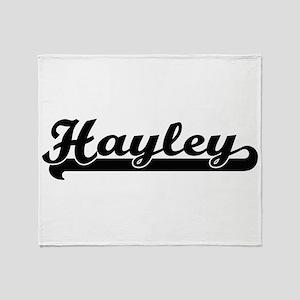 Hayley Classic Retro Name Design Throw Blanket