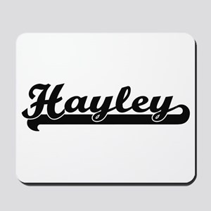 Hayley Classic Retro Name Design Mousepad