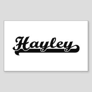 Hayley Classic Retro Name Design Sticker