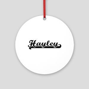 Hayley Classic Retro Name Design Ornament (Round)