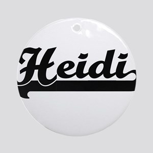 Heidi Classic Retro Name Design Ornament (Round)