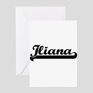 Iliana Classic Retro Name Design Greeting Cards