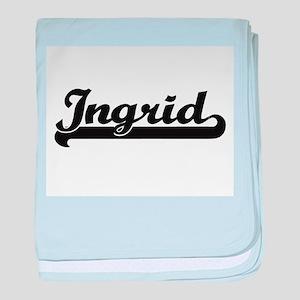 Ingrid Classic Retro Name Design baby blanket