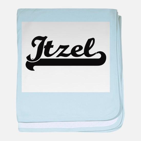 Itzel Classic Retro Name Design baby blanket