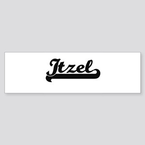 Itzel Classic Retro Name Design Bumper Sticker