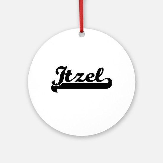Itzel Classic Retro Name Design Ornament (Round)