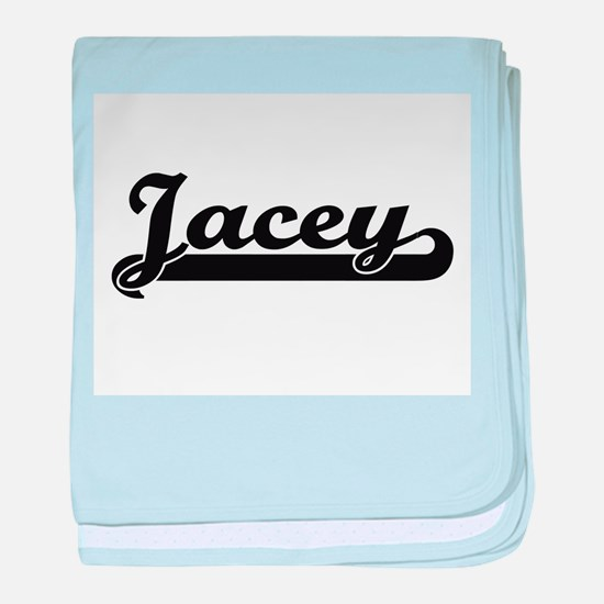Jacey Classic Retro Name Design baby blanket