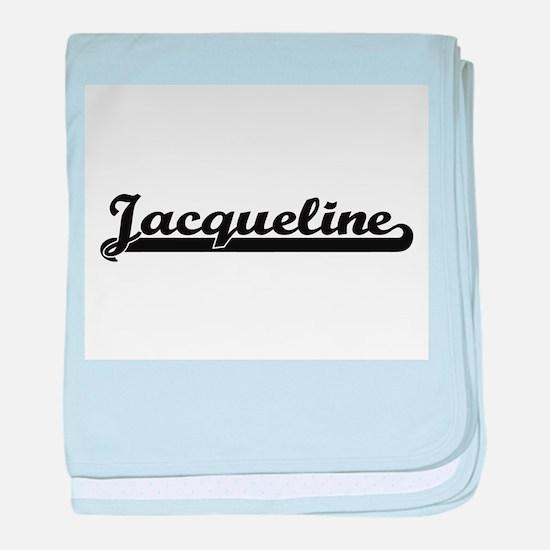 Jacqueline Classic Retro Name Design baby blanket