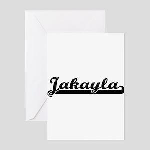 Jakayla Classic Retro Name Design Greeting Cards