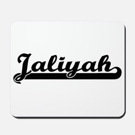 Jaliyah Classic Retro Name Design Mousepad