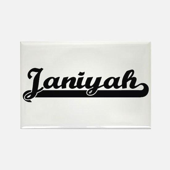 Janiyah Classic Retro Name Design Magnets