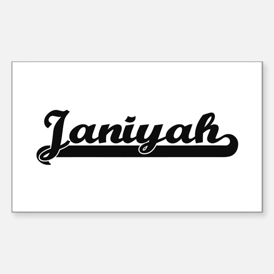 Janiyah Classic Retro Name Design Decal