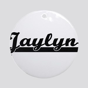 Jaylyn Classic Retro Name Design Ornament (Round)
