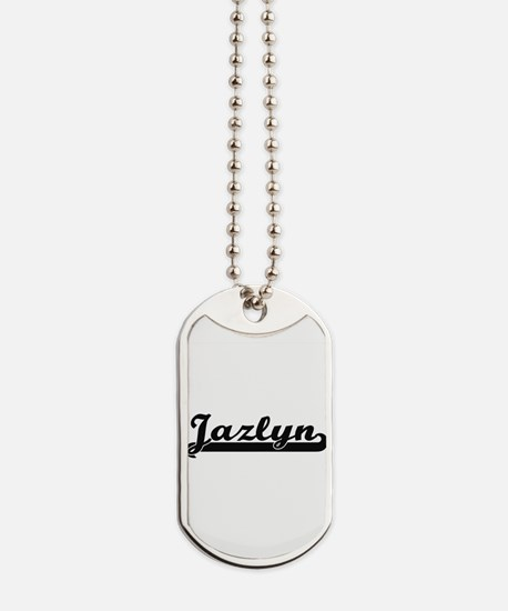 Jazlyn Classic Retro Name Design Dog Tags