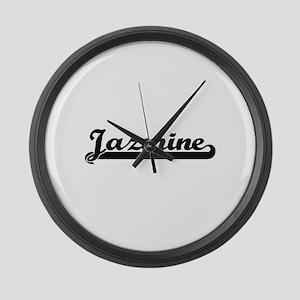 Jazmine Classic Retro Name Design Large Wall Clock
