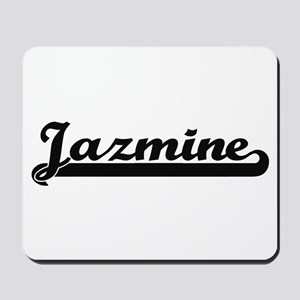 Jazmine Classic Retro Name Design Mousepad