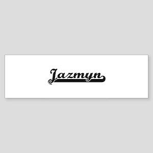 Jazmyn Classic Retro Name Design Bumper Sticker