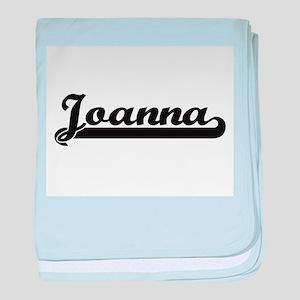 Joanna Classic Retro Name Design baby blanket