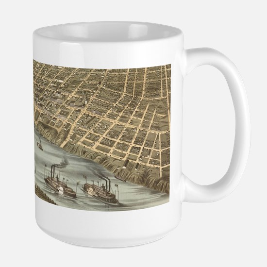 Vintage Pictorial Map of Memphis Tennessee (1 Mugs