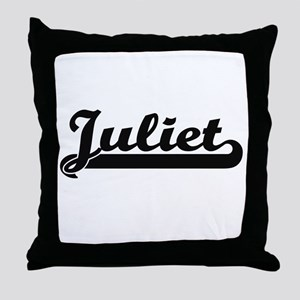 Juliet Classic Retro Name Design Throw Pillow