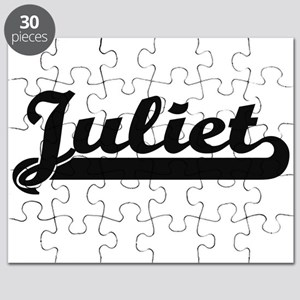 Juliet Classic Retro Name Design Puzzle
